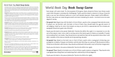 * NEW * World Book Day Book Swap Game