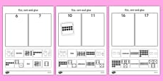 Cut and Stick Number Sort Activity Sheets