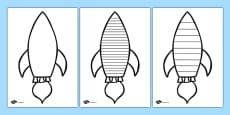Space Rocket Writing Frame