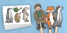 Stick Puppets to Support Teaching on Percy The Park Keeper