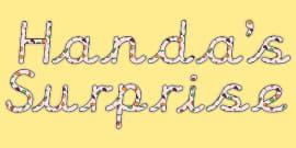 Handa's surprise banner display lettering