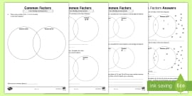 Year 5 6 Common Factors PowerPoint Task Setter and Activity Work ...