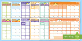 2018 Monthly Calendar Planning Template