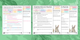Play Script Writing Templates - Learning Resource - Twinkl