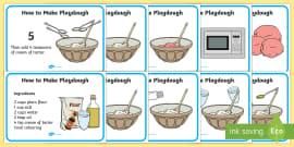 Playdough Recipe A4 Display Posters