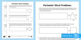 y4 perimeter word problems worksheet worksheet lks2 calculate. Black Bedroom Furniture Sets. Home Design Ideas