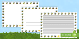 Bee Full Page Borders (Landscape)