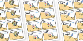 Lion Themed Editable Book Labels