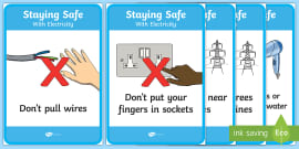 Scissor Safety Display Posters Scissor Safety Scissor