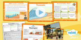 Geography: Extreme Earth: Tsunamis Year 3 Lesson Pack 5