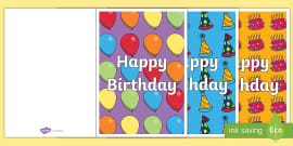 Birthday Card Writing Template