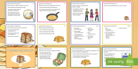* NEW * LKS2 Pancake Day What If? Maths Challenge Cards