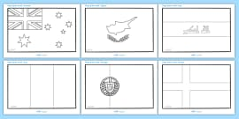 Flags Of The World Coloring Sheets