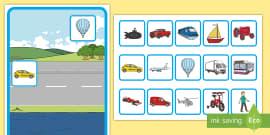 Transport Sorting Activity