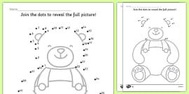Teddy Bears' Picnic Dot-to-Dot