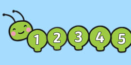 Numbers 0-31 on Caterpillar Number Line