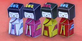 Japanese Doll Paper Model