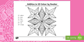 Rangoli Patterns Addition to 50 Colour by Number