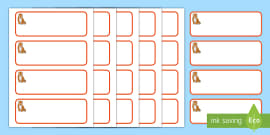 * NEW * Tiger Cub Themed Editable Drawer-Peg-Name Labels