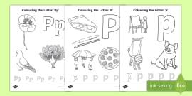 t par 206 letter p colouring pages english ver 2