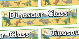 Dinosaur Themed Classroom Display Banner