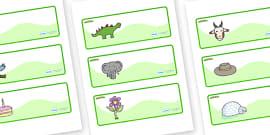 Caterpillar Themed Editable Drawer-Peg-Name Labels