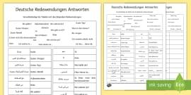 Nachtaktive Tiere Wortschatz Querformat Deutsch/Arabischer