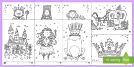 Fairy Tale Mindfulness Colouring Sheets