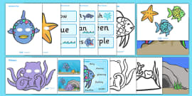Story Sack Resource Pack to Support Teaching on The Rainbow Fish