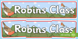 Robins Class Display Banner