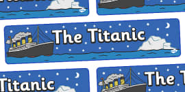 The Titanic Display Banner (Night)