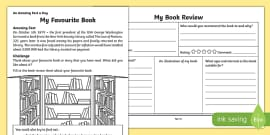 My Favourite Book Activity Sheet