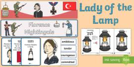 florence nightingale lamp template - florence nightingale character traits display set florence