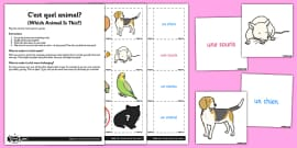 french worksheet worksheet as tu un animal french activity as tu un. Black Bedroom Furniture Sets. Home Design Ideas