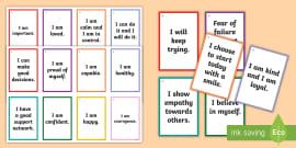 Positive Affirmation Ideas For Ks1 Fortune Teller Activity