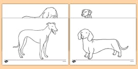 T T Dog Themed Colouring Sheets