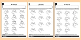 French Colours Activity Sheet