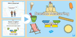 KS1 Seaside Measuring PowerPoint