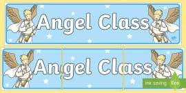 Angel Themed Classroom Display Banner