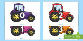 Numbers 0-31 on Tractors