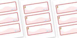 Parrot Themed Editable Drawer-Peg-Name Labels (Colourful)