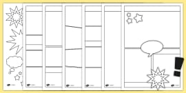 Blank Comic Strip Template Teacher Made
