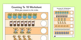 Nursery Rhyme Themed Counting to 10 Activity Sheet