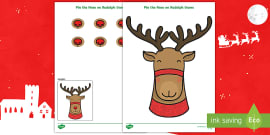 photo relating to Pin the Nose on Rudolph Printable named Pin The Nose Upon Rudolph the Reindeer