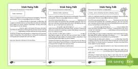 Volcano Themed Cloze Test Worksheet / Worksheets