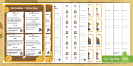 KS1 Pirate Ship Job Application Activity Pack