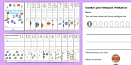 Space-Themed Number Formation Workbook