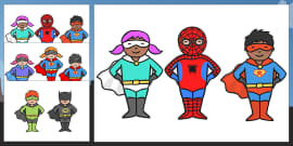 FREE! - Superhero Coloring Pages (teacher made)