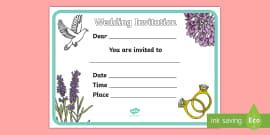 Design a Wedding Invitation