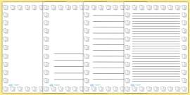 Lined Paper Portrait Page Borders